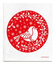 Jangneus Swedish dishcloth, Robins Red, 100% biodegradable