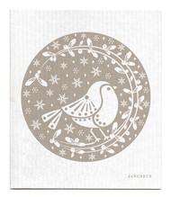 Jangneus Swedish dishcloth, Robins Grey, 100% biodegradable