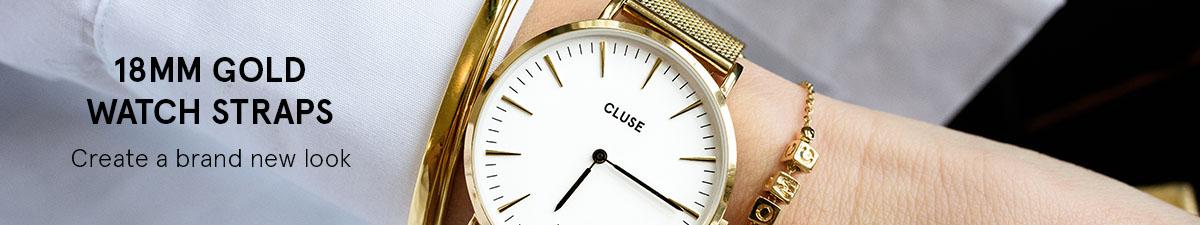 18mm gold watch straps