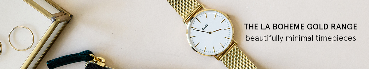 Shop Cluse La Boheme Gold Watches