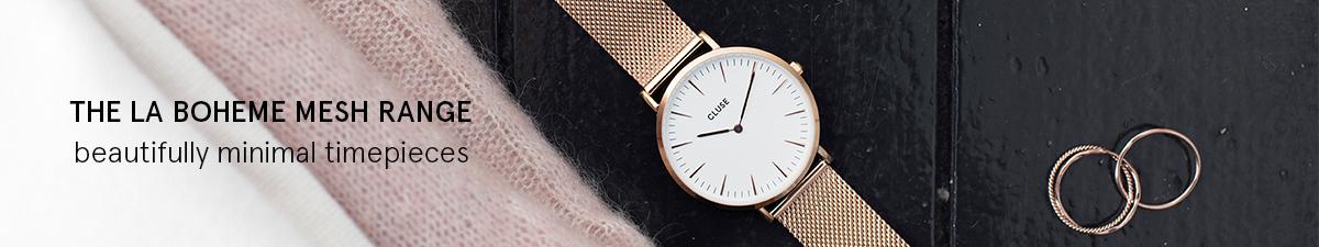 Shop Cluse La Boheme Mesh Watches