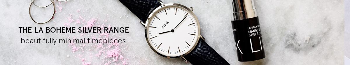 Shop Cluse La Boheme Silver Watches