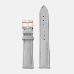 Cluse 18mm Watch Strap Grey/Rose Gold