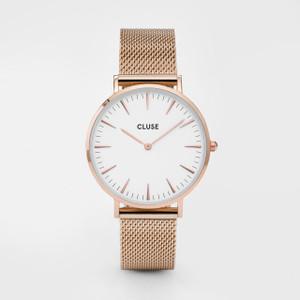 Cluse La Boheme Mesh Rose Gold/White Watch
