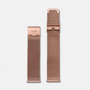 Cluse 18mm Watch Strap Mesh Rose Gold
