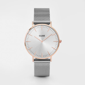 Cluse La Boheme Mesh Rose Gold/Silver Watch CL18116