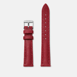 Cluse Minuit Watch Strap Deep Red Lizard/Silver CLS381