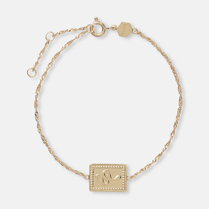 Cluse Tropicale Force Gold Twisted Chain Tag Bracelet CLJ11022
