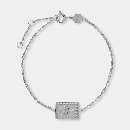 Cluse Tropicale Force Silver Twisted Chain Tag Bracelet CLJ12022