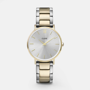 Cluse Minuit Gold Silver/Gold Two Tone Link Watch CW0101203028