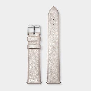 Cluse 18mm Watch Strap Warm White Metallic/Silver CS1408101055