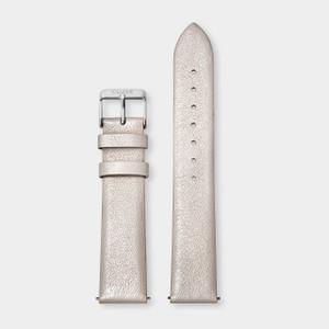 Cluse 18mm Watch Strap Warm White Metallic/Silver CS1408101055