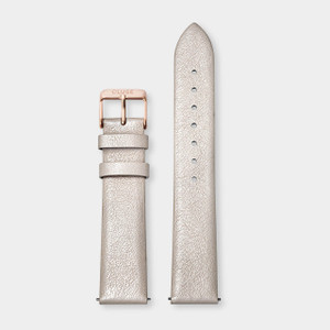 Cluse 18mm Watch Strap Warm White Metallic/Rose Gold CS1408101056