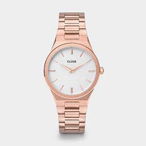 CLUSE Vigoureux 33 Rose Gold/Snow White Rose Gold Watch CW0101210001