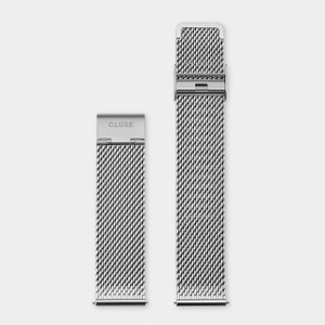 Cluse 20mm Watch Strap Silver Mesh CS1401101061