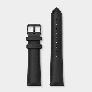 Cluse 20mm Leather Watch Strap Full Black CS1408101068