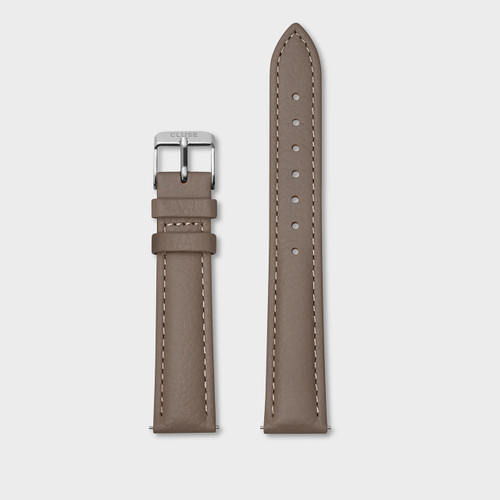 Cluse 16mm Watch Strap Taupe/Silver CS1408101082