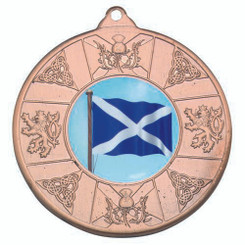 Scotland Medal (1In Centre) - Bronze 2In