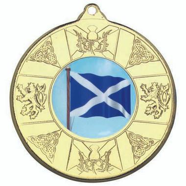 Scotland Medal (1In Centre) - Gold 2In