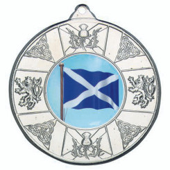 Scotland Medal (1In Centre) - Silver 2In