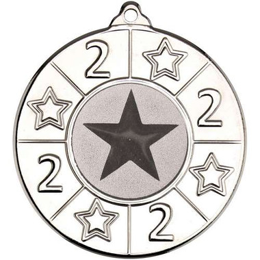 4 Star Medal (1In Centre) - 2Nd Silver 2In