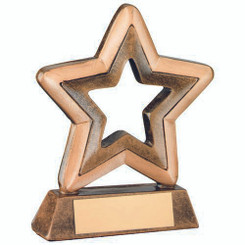 Brz/Gold Resin Generic Mini Star Trophy - 3.75In
