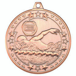 Swimming 'Tri Star' Medal - Bronze 2In
