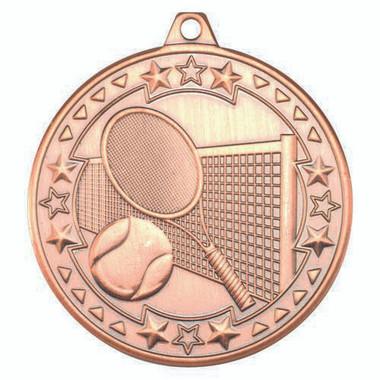 Tennis 'Tri Star' Medal - Bronze 2In