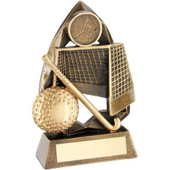 Brz/Gold Hockey Diamond Collection Trophy   (1In Centre) - 6.5In