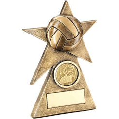 Brz/Gold Gaelic Football Star On Pyramid Base Trophy - (1In Centre) - 5In