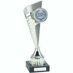 Silver Plastic Flair Trophy - (2In Centre) 13.25In