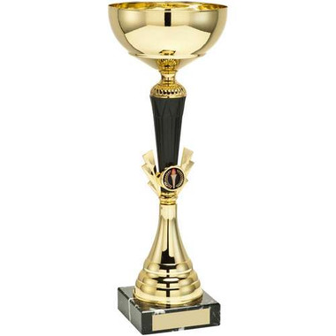 Gold/Black Tall Trophy - (1In Centre) 9.5In