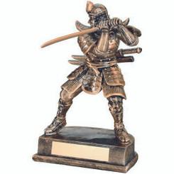 Brz/Gold Resin Samurai Figure - 8In