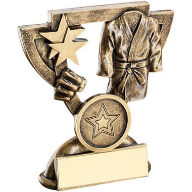 Brz/Gold Martial Arts Mini Cup Trophy - (1In Centre) 4.25In