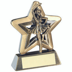 Brz/Gold Ballet Mini Star Trophy - 3.75In