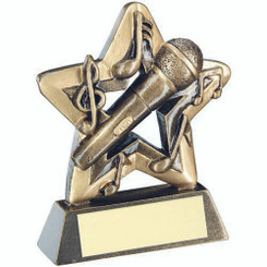 Brz/Gold Music Mini Star Trophy - 3.75In