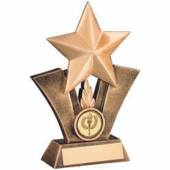 Brz/Gold Generic Star Resin Trophy - (1In Centre) 5In