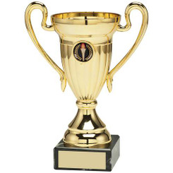 Gold Plastic Lined Cup Trophy - (1In Centre) 8In