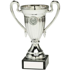 Silver Plastic Lined Cup Trophy - (1In Centre) 6.25In