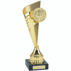 Gold Plastic Flair Trophy - (2In Centre) 12.5In