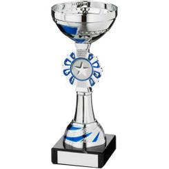 Silv/Blue Round Wreath Trophy - (1In Centre) 6.5In