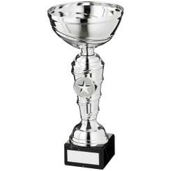 Silver Spiral Stem Trophy - (1In Centre) 8In