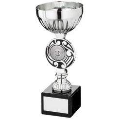 Silv/Black Round Celtic Trophy - (1In Centre) 7.25In