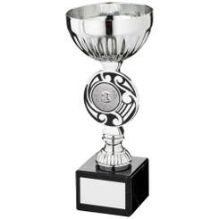 Silv/Black Round Celtic Trophy - (1In Centre) 7.25In