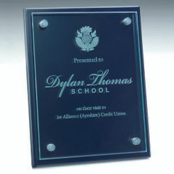 Blue Plaque With 6Mm Glass To Front - 9 X 12In