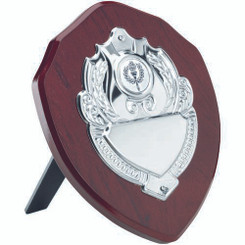 Rosewood Shield With Chrome Front (1In Centre) - 5In