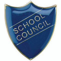 School Shield Badge (School Council) - Green 1.25In