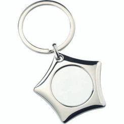 Metal Star Keyring - (1In Centre) 1.75In