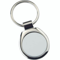 Metal Round Keyring - (1In Centre) 1.75In
