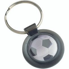 Round Keyring - Black (1In Centre) 1.5In